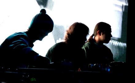 VJ Team in Arosa zur B-Live Party