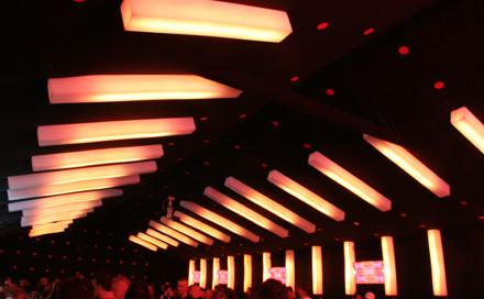 Room Division LED S�ulen in Arosa