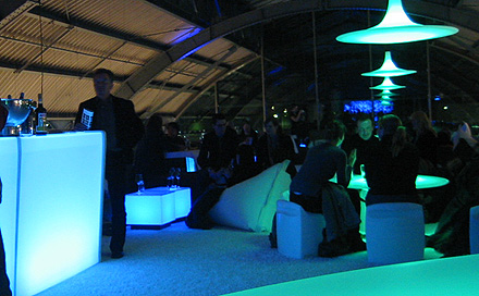 LED Bar zur Sky Lounge im Design Post zur IMM 2007