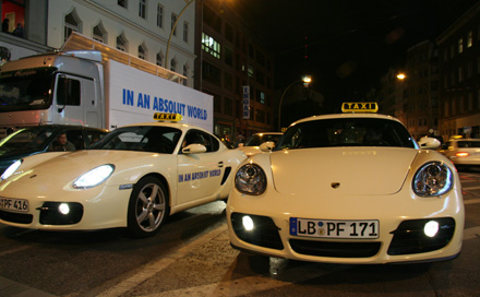 IN AN ABSOLUT WORLD PORSCHE TAXI