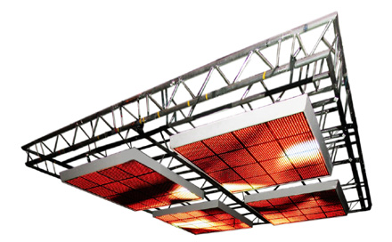 Room Division LED Video Deckensegel