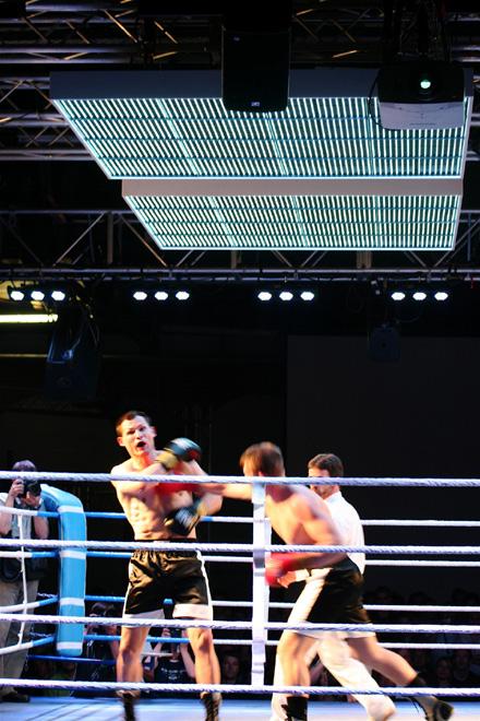 Weltmeisterschaft im Schachboxen mit LED Lichtkonzept von Room Division
