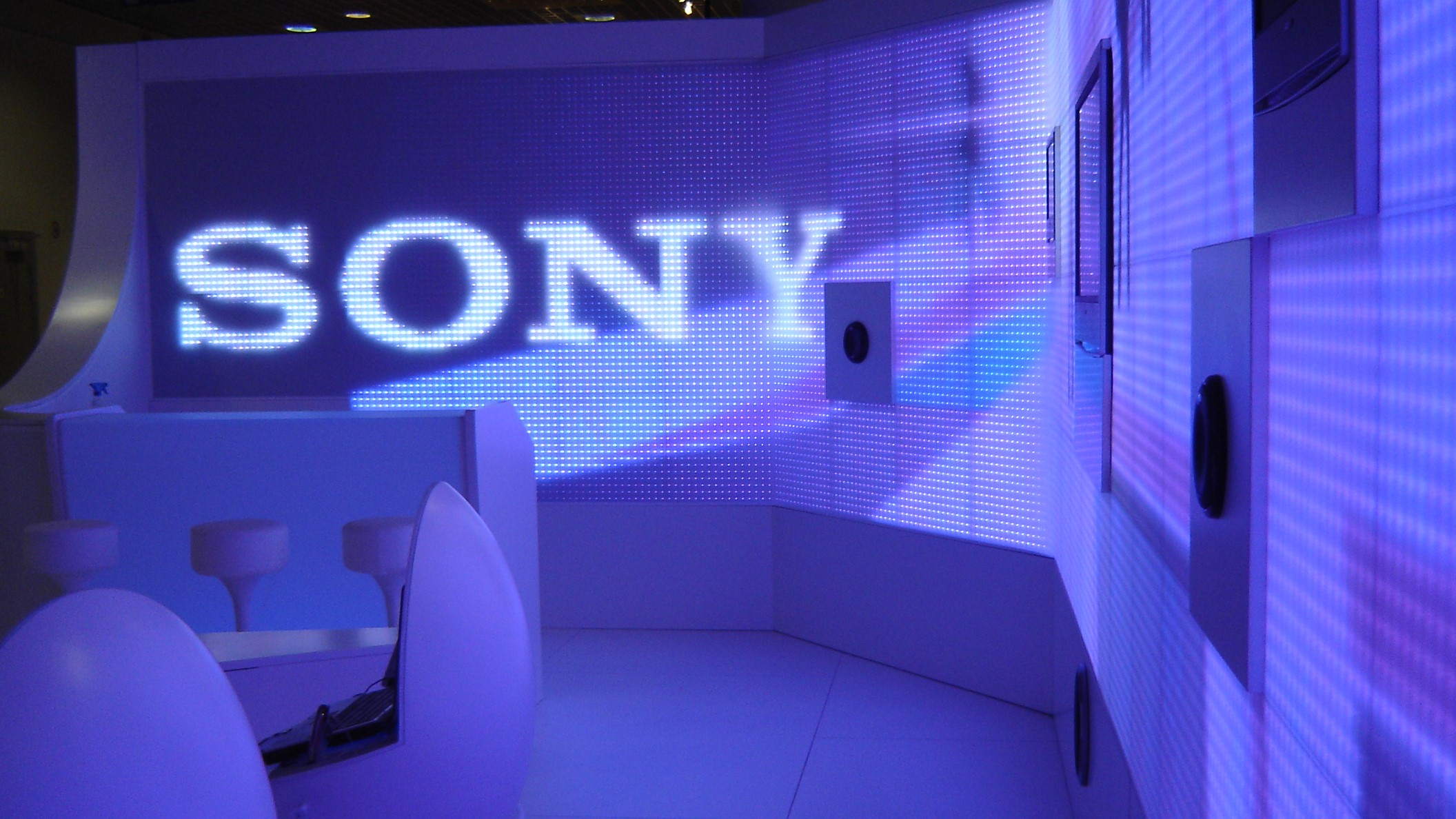 Messestand SONY zur MIDEM in Cannes 2006
